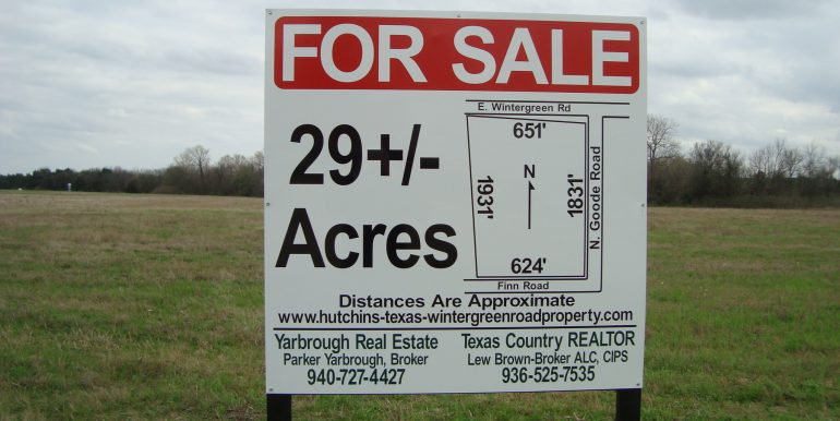 29 ac Forsale view of site